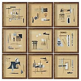 Renwil Adam 14-Inch Square Alternative Wood Wall Art (Set of 9)