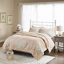 Madison Park Gloria Cotton Printed Reversible Quilted 3-Piece Coverlet Set