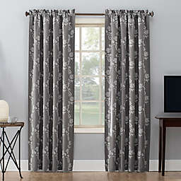 Sun Zero® Floral Embroidery Rod Pocket Total Blackout Curtain Panel