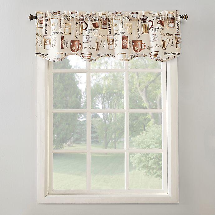 No.918™ Bristol Coffee Shop 14-Inch Kitchen Window Curtain Valance in Ivory