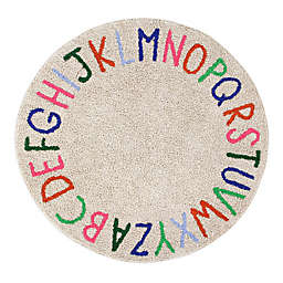 Marmalade™ ABC 5' Round Hand Tufted Multicolor Washable Area Rug