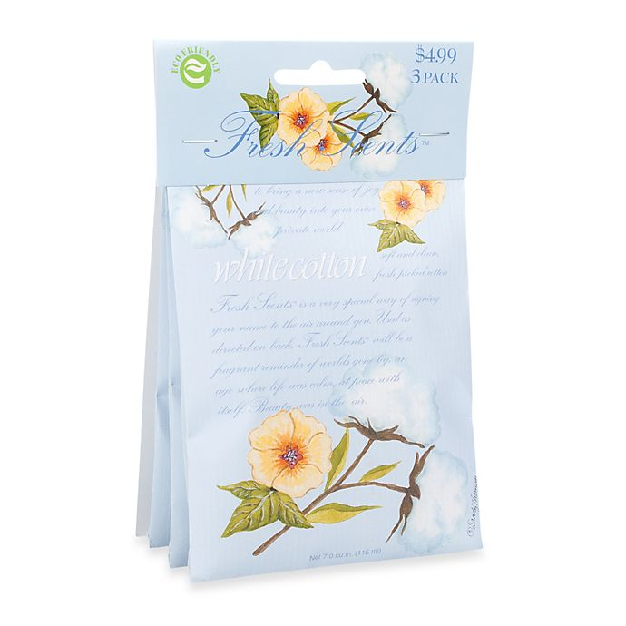 Alternate image 1 for Fresh Scents™ Scent Packets in White Cotton (Set of 3)