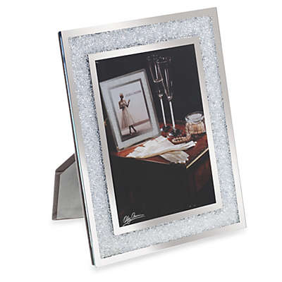 Oleg Cassini Crystal Diamond 5-Inch x 7-Inch Picture Frame