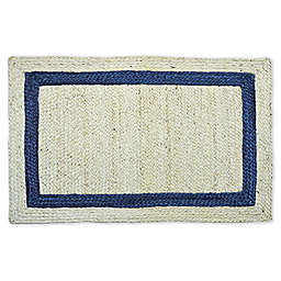One Kings Lane Open House™ Yoni 2' x 3' Braided Accent Rug in Natural/Indigo
