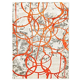Trina Turk Tanja Cecilia 4' x 5' Area Rug in Orange/Grey
