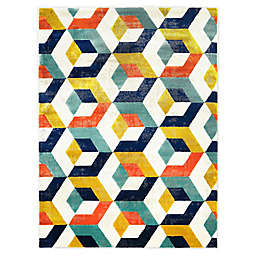 Trina Turk Tanja Bevins 4' x 5' Area Rug in Blue/Gold