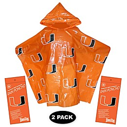 University of Miami 2-Pack Lightweight Ponchos