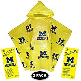 University of Michigan 2-Pack Lightweight Ponchos