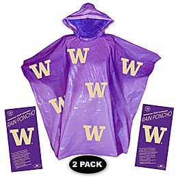 University of Washington 2-Pack Lightweight Ponchos