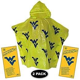 West Virginia University 2-Pack Lightweight Ponchos