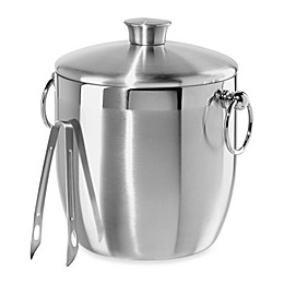 Oggi™ Stainless Steel Double Wall Ice Bucket with Tongs