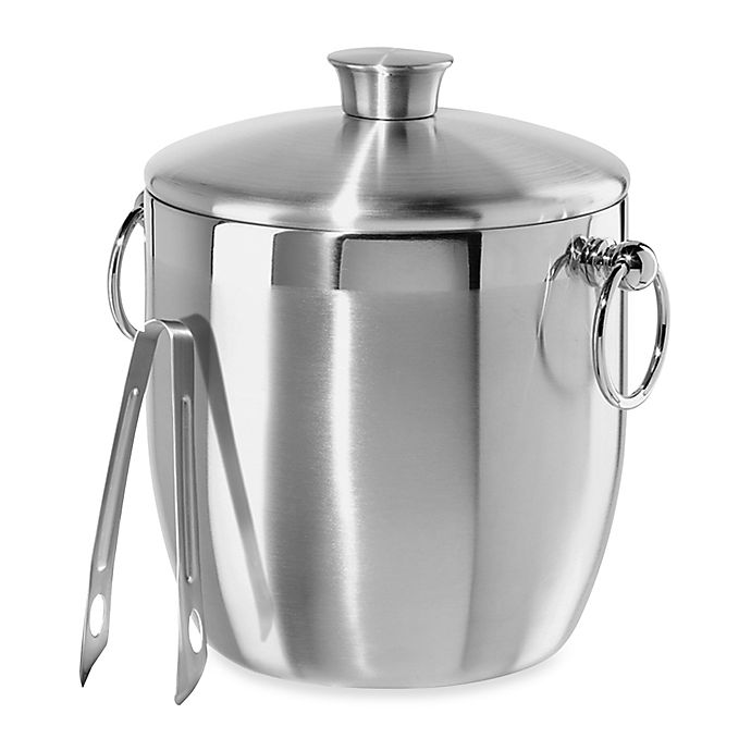 Alternate image 1 for Oggi™ Stainless Steel Double Wall Ice Bucket with Tongs