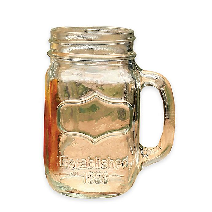 Alternate image 1 for Glass Mason Jar Mugs (Set of 4)