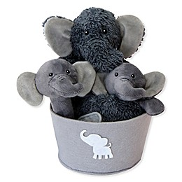 Trend Lab® 4-Piece Elephant Gift Set in Grey/White