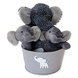 Trend Lab® 4-Piece Elephant Gift Set in Grey/White