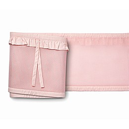 BreathableBaby® Ruffled Deluxe Mesh Crib Liner in Blush