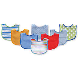 Luvable Friends® 8-Pack Terry Bibs in Blue