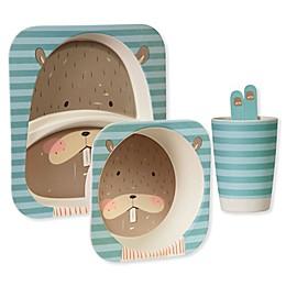 Safety 1st™ 5-Piece Beaver Toddler Dinnerware Set in Blue