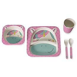 Safety 1st™ 5-Piece Unicorn Toddler Dinnerware Set in Pink