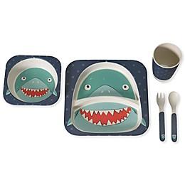 Safety 1st™ 5-Piece Shark Toddler Dinnerware Set in Blue