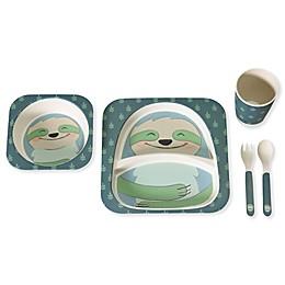 Safety 1st® Sloth 5-Piece Toddler Dinnerware Set in Blue