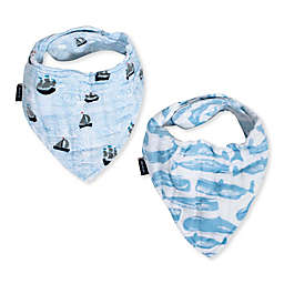 Bebe Au Lait® 2-Piece High Seas and Whale Bandana Bib Set
