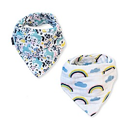 Bebe Au Lait® 2-Pack Unicorn and Rainbows Bandana Bibs