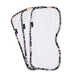 Bebe au Lait® 3-Pack Haven Burp Cloths in White