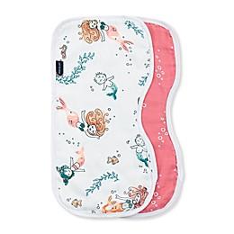 Bebe Au Lait® 2-Pack Coastal Burp Cloths in Pink
