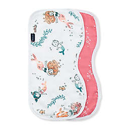Bebe Au Lait® 2-Pack Coastal Burp Cloths in Pink