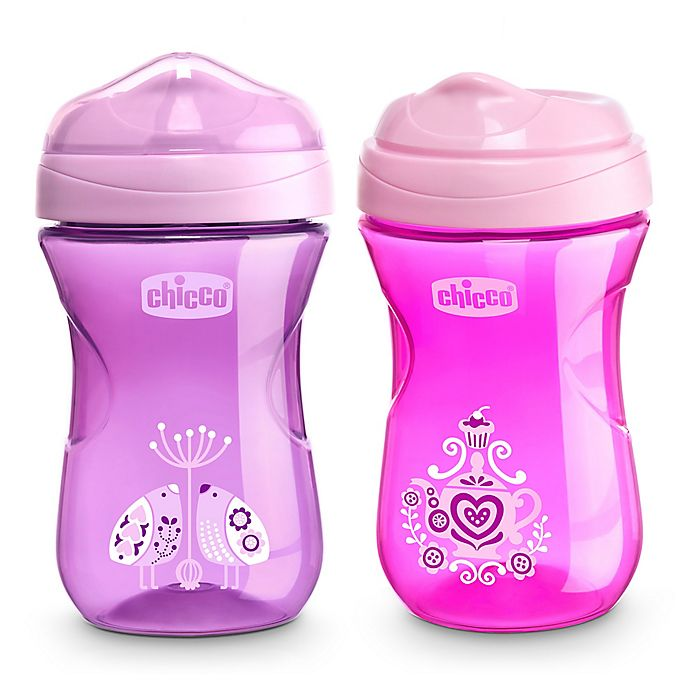 Alternate image 1 for Chicco® 2-Pack 9 oz. Rim-Spout Trainer Sippy Cup