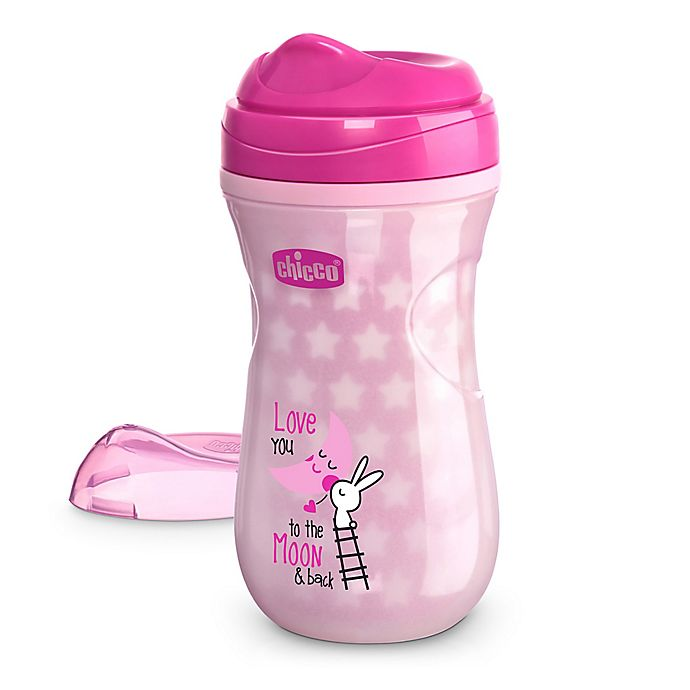 Alternate image 1 for Chicco® 9 oz. Glow in the Dark Rim-Spout Trainer Sippy Cup