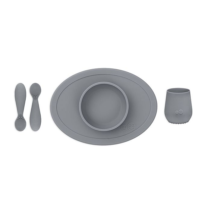 Alternate image 1 for ezpz™ 4-Piece First Foods Set in Grey
