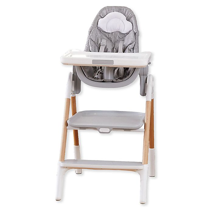 Alternate image 1 for SKIP*HOP® Sit-to-Step Convertible High Chair in Grey/White