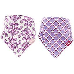 Hudson Baby® 2-Pack Brocade Bandana Bibs in Purple