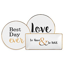 Olivia & Oliver® Wedding Party Trinket Tray Collection in White