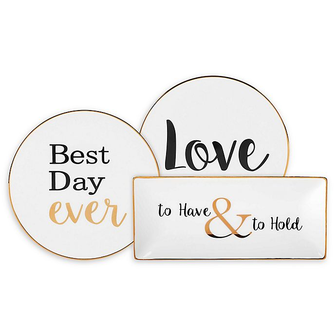 Alternate image 1 for Olivia & Oliver® Wedding Party Trinket Tray Collection in White