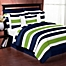 Part of the Sweet Jojo Designs Navy and Lime Stripe Bedding Collection
