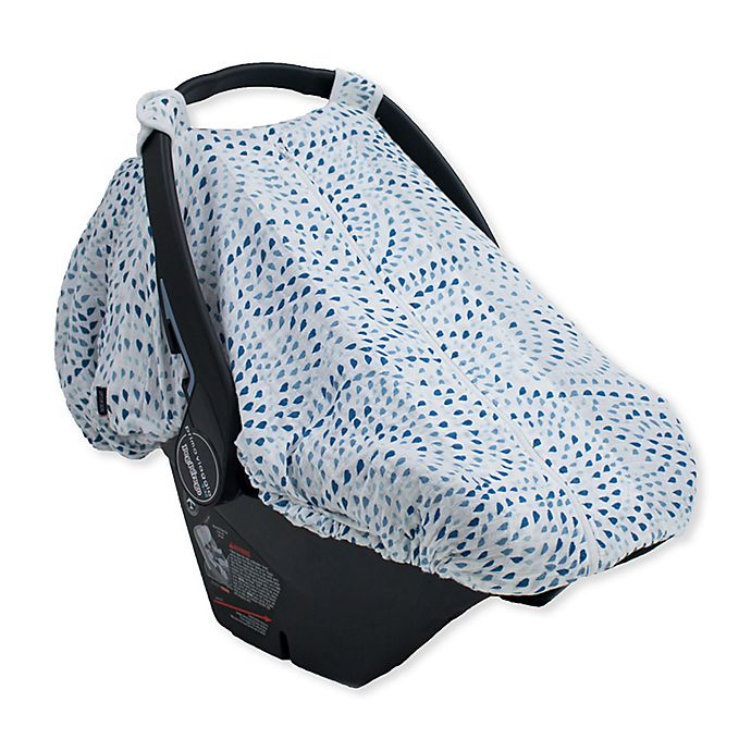 Alternate image 1 for Bebe au Lait® Just Be Muslin Car Seat Cover in Serenity Light Blue