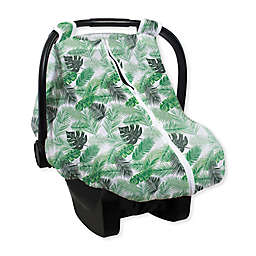 Bebe au Lait® Just Be Muslin Car Seat Cover in Green Palms