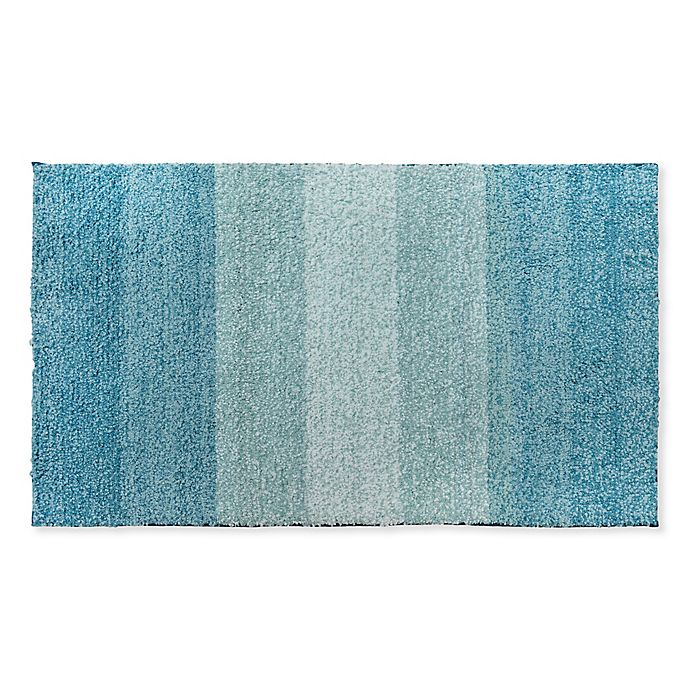 Alternate image 1 for Fashion Ombre Stripe Bath Rug