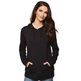 Motherhood Maternity® Invisible Zip Hoodie in Black