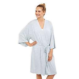 Motherhood Maternity® Spacedye Elbow Sleeve Maternity Robe in Blue