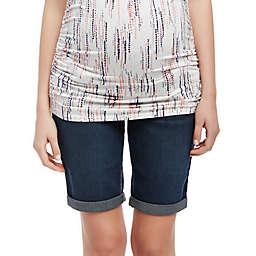 Motherhood Maternity® Secret Fit Belly Cuffed Maternity Bermuda Shorts in Navy