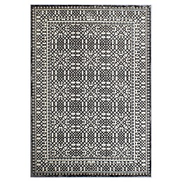 Cosmo Living Helena Artistic Area Rug in Ivory/Silver