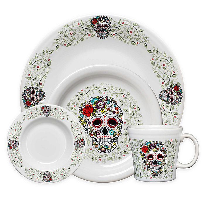 Alternate image 1 for Fiesta® Halloween Sugar Skull Dinnerware Collection