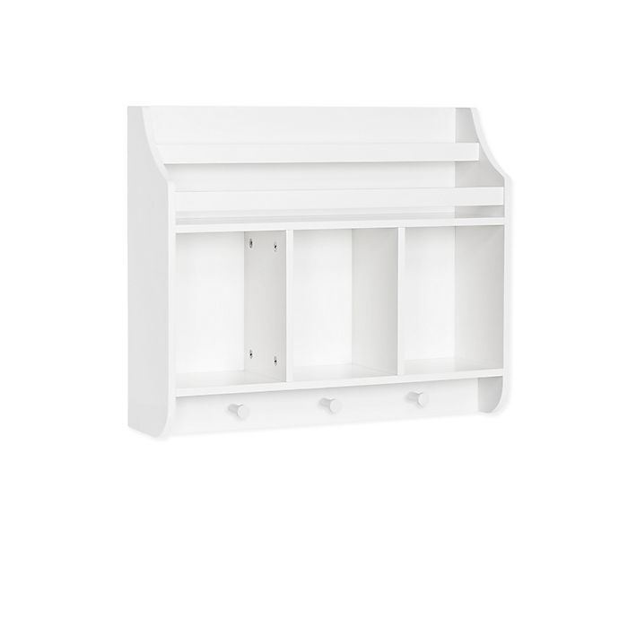 Alternate image 1 for RiverRidge® Home Book Nook Collection Kids Cubby Wall Shelf and Book Rack in White
