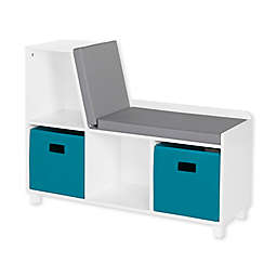 RiverRidge® Home Book Nook Collection Kids Storage Bench with Cubbies in White/Turquoise