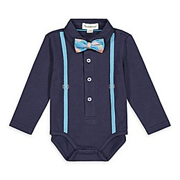 Beetle & Thread® Multicolor Suspender Bodysuit