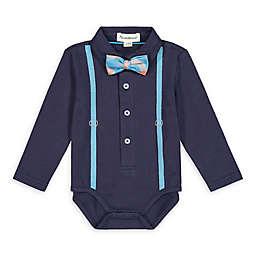 Beetle & Thread® Multicolor Suspender Bodysuit